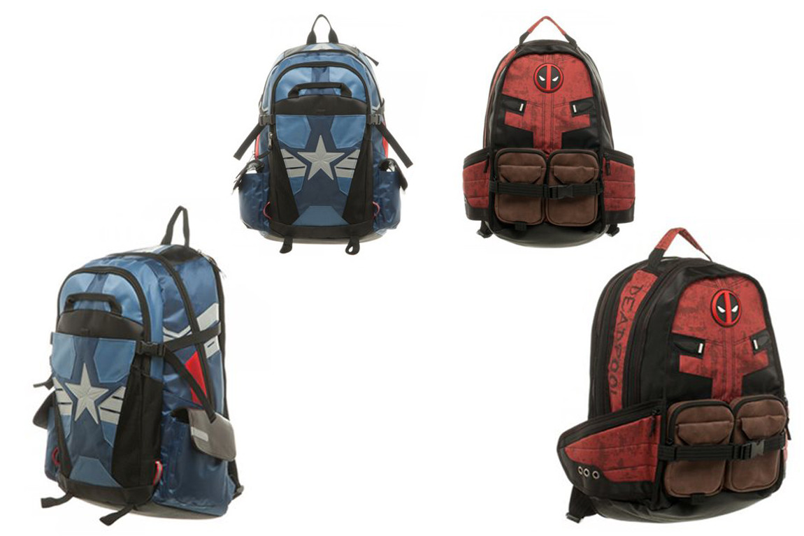 Deadpool & Captain America: Civil War Laptop Backpacks