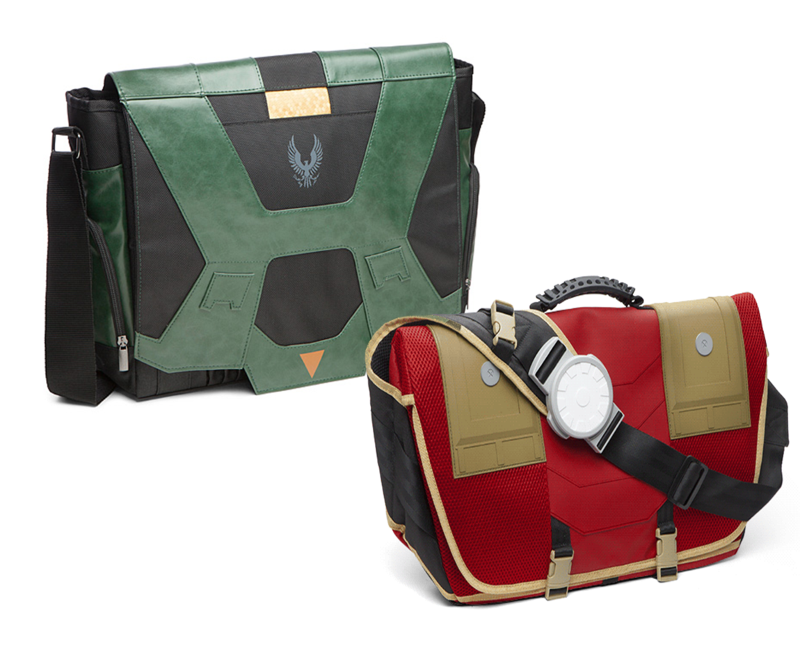 Iron Man & 'Halo 5' Messenger Bags from ThinkGeek