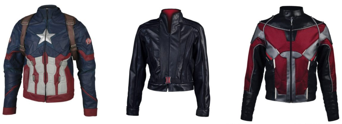 Captain America, Black Widow, and Ant-Man Jackets from Anovos