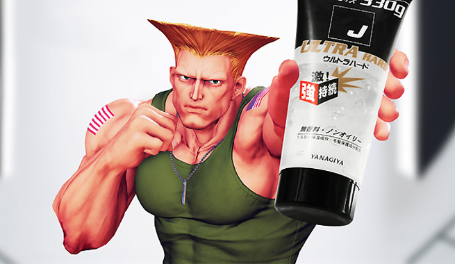 'Street Fighter' Guile Selling Hair Gel in Japan
