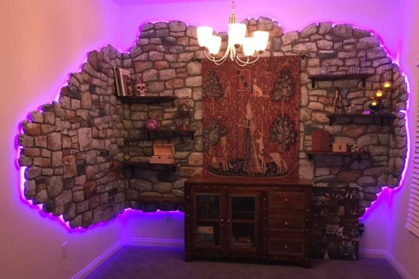 Wizard's Study Themed Gaming Room