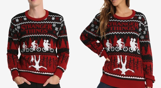 'Stranger Things' Ugly Holiday Sweater