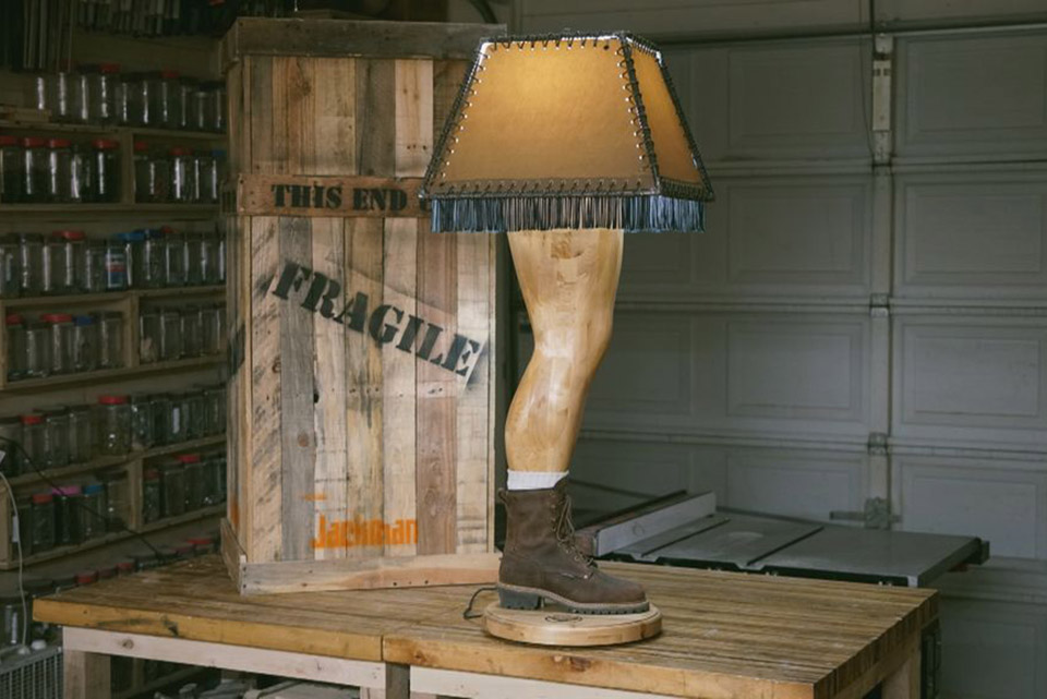 A Manly Christmas Story Lamp